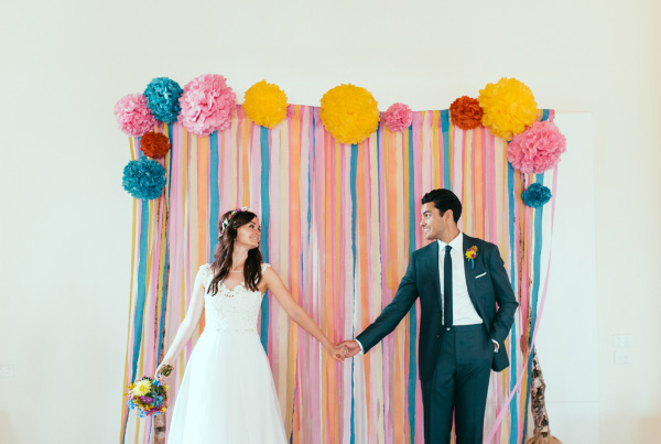 Gina+Vijays+Rainbow+Wedding